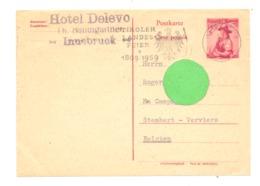 "Carte Postale - Hôtel "" DELEVO "" à INNSBRÜCK En 1959 - Autriche / ÖSTERREICH (van 2) - Hotels & Restaurants"