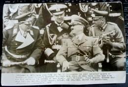 UPI International Press Photo Adolf Hitler Marechal Goering General Admiral Raeder GFM Brauchitsch 1939 WWII WW2 Marshal - Guerre, Militaire
