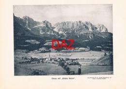 716 Elmau Panorama Kaisergebirge Berge Druck 1901 !!! - Unclassified