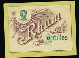 """étiquette  Rhum Antille """"visage Homme"""" Haberer Douin Et Jouneau Paris - Rhum"""