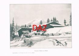 717 Ehrwald Erwalder Mühlen Berge Druck 1901 !!! - Unclassified