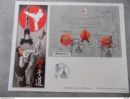 Premier Jour (FDC) Grand Format France 2012 : Championnats Du Monde De Karaté (bloc Feuillet) - FDC