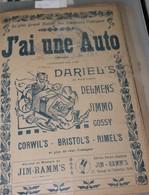 """Partition De """"J'ai Une Auto"""" - Partitions Musicales Anciennes"""