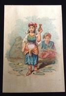 Lyon Fabrique Tapis Josserand  Chromo  Egypte Femme Vase - Cromos