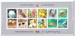 Bahrain 2003, Postfris MNH, Flowers, Birds, Sealife - Bahrein (1965-...)