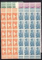 Moyen-Congo Maury N° 110/113 En Blocs De 20 Timbres Neufs ** MNH. TB. A Saisir! - Congo Français (1891-1960)