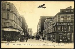 CPA-FRANCE-PARIS-Paris -Rue De Vaugirard Au Boulevard Montparnasse--tres Animee-RARE - Paris (06)