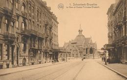 CPA - Belgique - Brussels - Bruxelles - Schaerbeek - La Gare Et Avenue De La Princesse Elisabeth - Schaarbeek - Schaerbeek