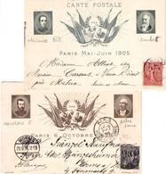 Deux Entiers , Visite Du TSAR NICOLAS II 1898 Et ALPHONSE XIII 1905 , - 1877-1920: Période Semi Moderne
