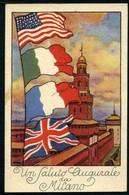 Milano - Un Saluto Augurale - Viaggiata In Busta 1919 - Rif. 01507 - Milano