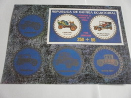 Miniature Sheet Imperf Motorised Vehicles - Equatorial Guinea