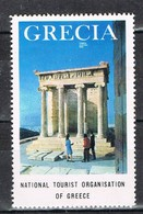Viñeta, Label , Vignette GRECIA, Grece, Griechenland. Tourism, Turismo, El PARTENON ** - Variedades Y Curiosidades