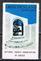 Viñeta, Label , Vignette GRECIA, Grece, Griechenland. Tourism, Turismo, KYKLADES, Cicladas ** - Variedades Y Curiosidades