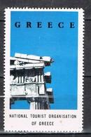 Viñeta, Label , Vignette GRECIA, Grece, Griechenland. Tourism, Turismo, Esquina Partenon ** - Variedades Y Curiosidades