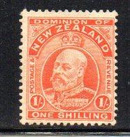 APR1074 - NEW NUOVA ZELANDA 1909 , 1 Sh . Nuovo Senza Gomma  Yvert 143   Filigrana  NZ/star. - 1907-1947 Dominion