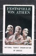 Viñeta, Label , Vignette GRECIA, Grece, Griechenland. Tourism, Turismo, ATENAS Festival ** - Variedades Y Curiosidades