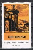 Viñeta, Label , Vignette GRECIA, Grece, Griechenland. Tourism, Turismo, Monumento ** - Variedades Y Curiosidades