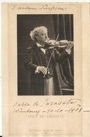 VIOLON .PABLO DE SARASATE . 1903 - Autographes