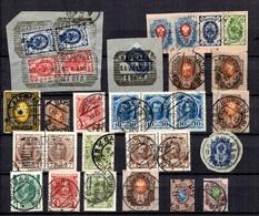 Russie Belle Petite Collection D'anciens Tous Avec Diverses Oblitérations De Varsovie. B/TB. A Saisir! - Collections