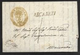 DA RECANATI A MACERATA - 2.4.1829. - Italy