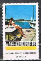 Viñeta, Label , Vignette GRECIA, Grece, Griechenland. Tourism, Turismo, Turista Y Yates ** - Variedades Y Curiosidades