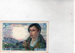 Billet De 5 Francs Berger - Le 5-4-1945 En S P L - - 1871-1952 Circulated During XXth