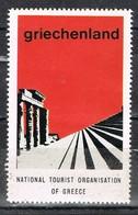 Viñeta, Label , Vignette GRECIA, Grece, Griechenland. Tourism, Turismo, Ruinas Griegas ** - Variedades Y Curiosidades
