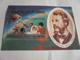 Miniature Sheet Perf 100 Years Of Telecoms Alexander Graham Bell 1976 - Guinea-Bissau