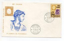 Italia - 1962 - Busta FDC Filagrano - 4^ Giornata Del Francobollo - Con Doppio Annullo Trento - (FDC15497) - Giornata Del Francobollo