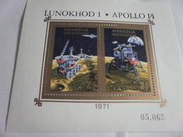 Miniature Sheet Imperf 1971 Apollo 14 Space Exploration - Mongolia