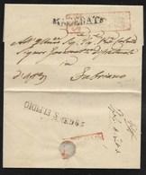 DA SANT' ELPIDIO A FABRIANO - 15.1.1850. - Italy
