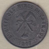 81. Tarn. Carmaux. Société Des Mines. 10 Centimes 1917, En Zinc - Notgeld