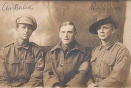 War 1914-18 ; 3 Soldiers , Australian , Uk & Russian - War 1914-18