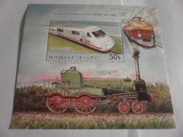 Miniature Sheet Perf 100 Years Of Rail Travel 1985 - Guinea (1958-...)