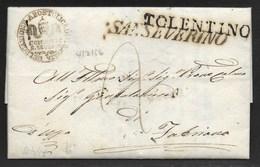 DA SANSEVERINO A FABRIANO - 21.4.1856. - Italy