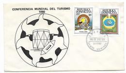 DOMINICAN REPUBLIC, DOMINICANA, 1980, TOURISM WORLD CONFERENCE FDC COVER FIRST DAY COVER - Dominican Republic