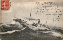 MESSAGERIES MARITIMES PAQUEBOT  ISPAHAN    Par Grosse Mer - Steamers