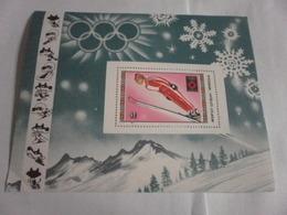 Miniature Sheet Perf 1984 Winter Olympics - Mongolia