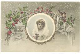 ORENS - Paysage De Neige - Femme En Médaillon - Oiseaux  (470 ASO) - Orens