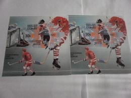 Miniature Sheets Perf And Imperf 1984 Winter Olympics Sarajevo Ice Hockey - Guinea (1958-...)