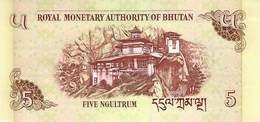 Five Ngultrum Bhutan 2006 UNC - Bhutan