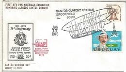 ESTADOS UNIDOS USA URUGUAY SANTOS DUMONT DIRIGIBLE EIFFEL TOWER ZEPPELIN VUELO - Zeppelins