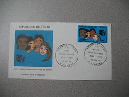 FDC   République Du Tchad 1975 Poste Aérienne  Année Internationale De La Femme   Cachet  N Djamena  à Voir - Stamps