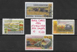 Agriculture Culture Moissoneuse Tracteur Tournesol - Russie N°1724 à 1727 1954 O - Agriculture