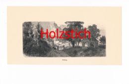 743 Brixlegg Kutsche Kirche Kapelle Holzstich Ca. 1878 !! - Drucke