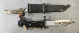 Baïonnette AKM1 6x3 Ex RDA, Complète - Armes Blanches