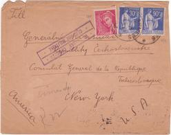 Lettre Militaire Tchécoslovaque Franchise Affranchissement Gratuit PAIX Mercure > USA 1940 Censure Cf. Description - Postmark Collection (Covers)