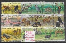Animaux Divers Antilope Crocodile éléphant Flamand Rapace Serpent Singe - Burundi N°709 à 732 1977 ** - Non Classés