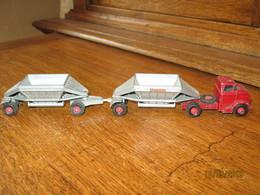 MATCHBOX - Lesney - K  4 - GMC Tractor & Freuhof Hopper Train  Complet - Etat D'usage - Jeu, Jouet, Camion,... - Jouets Anciens