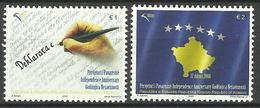 KOSOVO 2009  ANNIVERSARY OF INDEPENDENCE SET  MNH - Kosovo